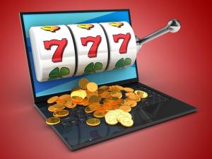 playing online slots from laptop